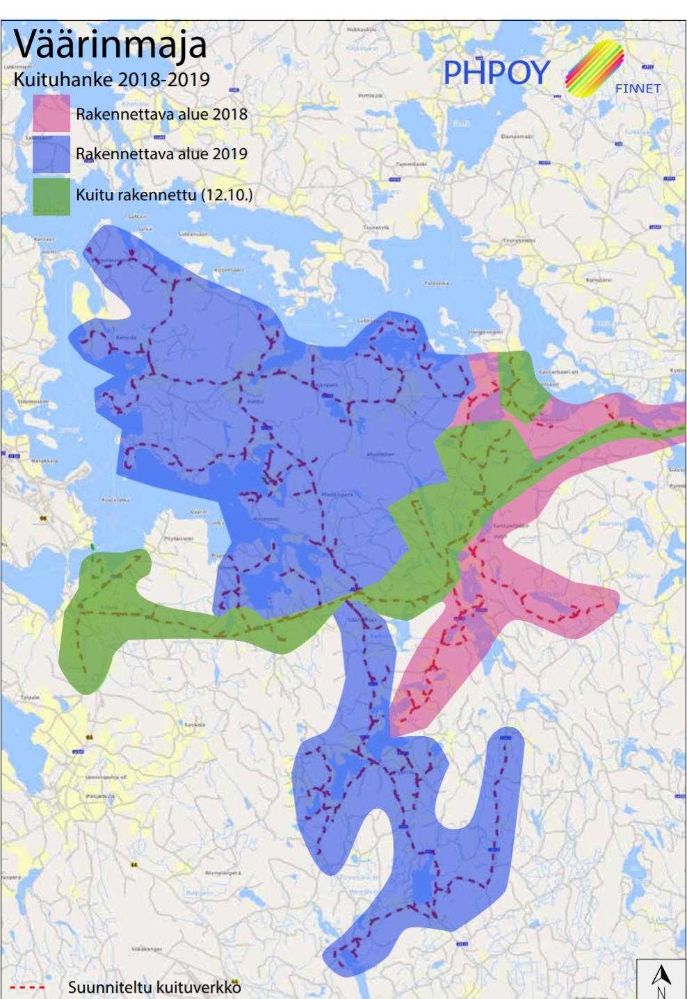 Kartta 12 10 Kuiturakentamisen Eteneminen